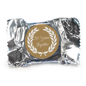 Anniversary Personalized York Peppermint Patties Then and Now Golden 50th