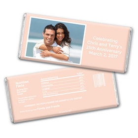 Anniversary Personalized Chocolate Bar Photo & Message