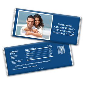 Anniversary Personalized Chocolate Bar Wrappers Photo & Message