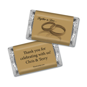 Anniversary Personalized Hershey's Miniatures Wrappers 50th Rings