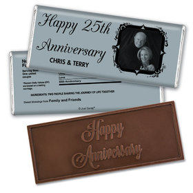 Anniversary Party Favors Personalized Embossed Chocolate Bar 25th Anniversary Candy - Tomorrow & Forever Party Favors & Wrapper