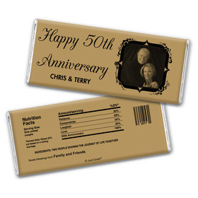 Anniversary Personalized Chocolate Bar Wrappers 50th Anniversary Candy - Tomorrow & Forever Party Favors & Wrapper