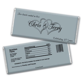Anniversary Party Favors Personalized Chocolate Bar Chocolate & Wrapper Always My One 25th Anniversary Favors