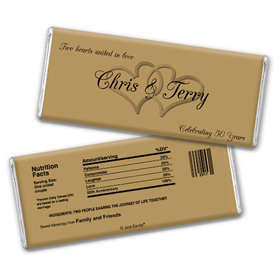 Anniversary Party Favors Personalized Chocolate Bar Chocolate & Wrapper Always My One 50th Anniversary Favors