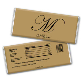 Anniversary Party Favors Personalized Chocolate Bar Chocolate & Wrapper Formal 50th Anniversary Party Favors