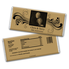 Anniversary Party Favors Personalized Chocolate Bar Chocolate & Wrapper Forever Yours 50th Anniversary Favors