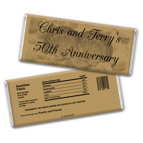 Anniversary Party Favors Personalized Chocolate Bar Chocolate & Wrapper Two of a Kind 50th Anniversary Favors