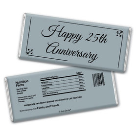 Anniversary Party Favors Personalized Chocolate Bar Chocolate & Wrapper Simple Truth 25th Anniversary Favors