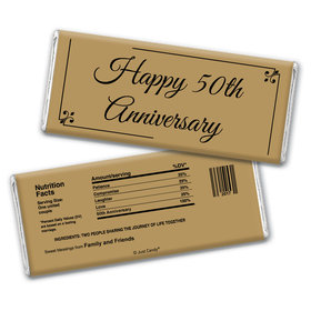 Personalized 50th Anniversary Chocolate Bar Wrappers Only