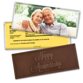 Anniversary Personalized Embossed Chocolate Bar Full Photo