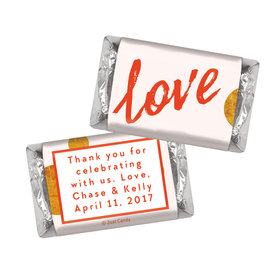 Personalized Hershey's Miniatures Bubbling Love Anniversary Favors