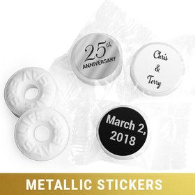 Personalized Metallic Anniversary 25th Life Savers Mints (300 Pack)