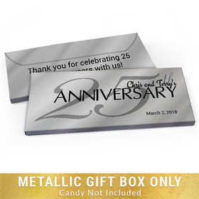 Deluxe Personalized Anniversary Classic 25th Candy Bar Favor Box