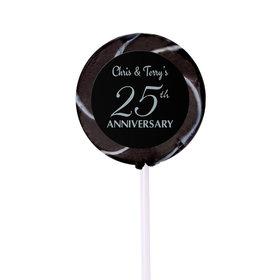 Anniversary Party Favors Personalized Small Swirly Pop 25th Anniversary Favor (24 Pack)