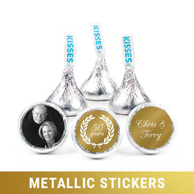 Personalized Metallic Anniversary Now & Then Hershey's Kisses (50 Pack)