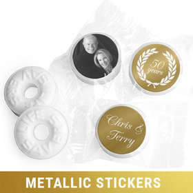 Personalized Metallic Anniversary Now & Then Life Savers Mints (300 Pack)