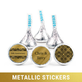 Personalized Metallic Anniversary Golden 50th Hershey's Kisses (50 Pack)