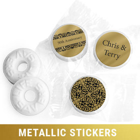 Personalized Metallic Anniversary Golden 50th Life Savers Mints (300 Pack)