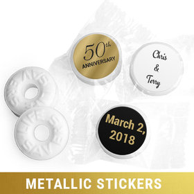 Personalized Metallic Anniversary 50th Life Savers Mints (300 Pack)