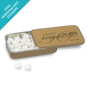 Anniversary Party Favors Mint Tin 50th Anniversary Favor (12 pack)
