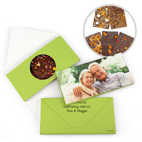 Personalized Anniversary Photo Gourmet Infused Belgian Chocolate Bars (3.5oz)