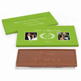 Deluxe Personalized Anniversary Then & Now Photo Chocolate Bar in Gift Box