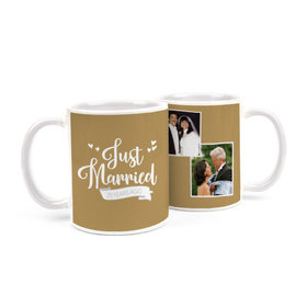 Personalized Anniversary Just Married 15oz Mug