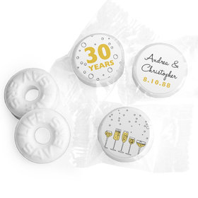 Personalized Anniversary Cheers to Love Life Savers Mints