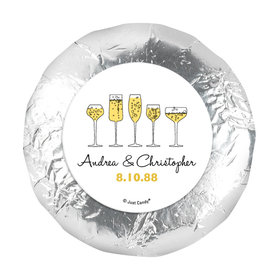 """Personalized Anniversary Cheers To Love 1.25"""" Stickers (48 Stickers)"""