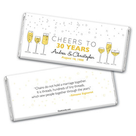 Wedding Anniversary Personalized Chocolate Bar Wrappers Cheers To Love
