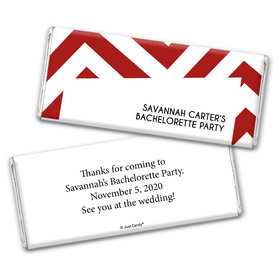Bachelorette Party Favor Personalized Chocolate Bar Wrappers Chevron