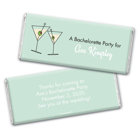 Bachelorette Party Favor Personalized Chocolate Bar Wrappers Martini