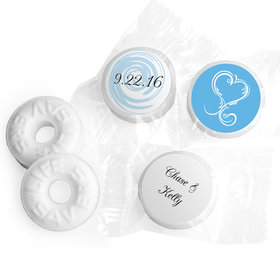 Personalized Wedding Swirled Heart Life Savers Mints