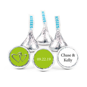 "Wedding Favor 3/4"" Sticker Linked Hearts (108 Stickers)"