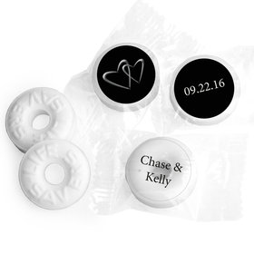 Wedding Favor Personalized Life Savers Mints Linked Hearts
