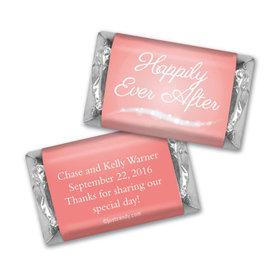 """Wedding Favor Personalized Hershey's Miniatures Wrappers """"Happily Ever After"""""""