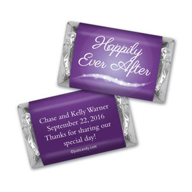 "Wedding Favor Personalized Hershey's Miniatures Wrappers ""Happily Ever After"""