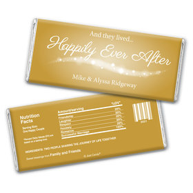 """Wedding Favor Personalized Chocolate Bar """"Happily Ever After"""""""