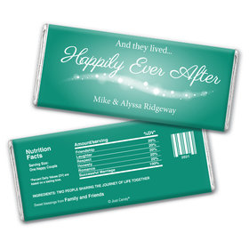 "Wedding Favor Personalized Chocolate Bar Wrappers ""Happily Ever After"""