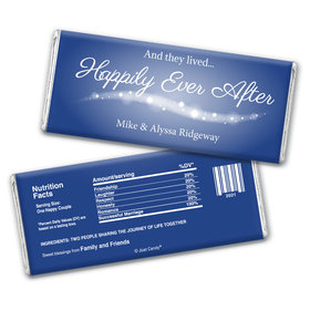"""Wedding Favor Personalized Chocolate Bar Wrappers """"Happily Ever After"""""""