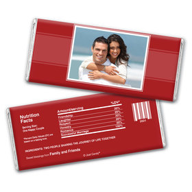 Wedding Reception Favors Personalized Chocolate Bar Photo