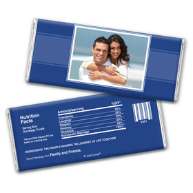 Wedding Reception Favors Personalized Chocolate Bar Wrappers Photo
