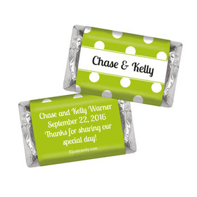 Wedding Favor Personalized Hershey's Miniatures Wrappers Polka Dots