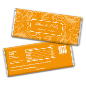 Wedding Favor Personalized Chocolate Bar Filigree