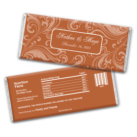 Wedding Favor Personalized Chocolate Bar Wrappers Filigree