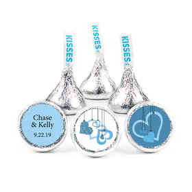 """Wedding 3/4"""" Stickers -Hanging Hearts (108 Stickers)"""