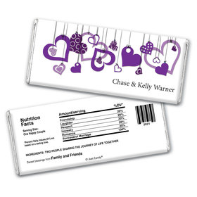 Personalized Wedding Reception Favors Hershey's Chocolate Bar & Wrapper with Gold Foil