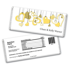 Personalized Wedding Reception Favors Hershey's Chocolate Bar & Wrapper