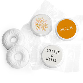 Wedding Favor Personalized Life Savers Mints Monogram Flower Seal