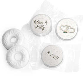 Wedding Favor Personalized Life Savers Mints Two Hearts Lord's Blessing